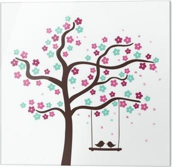 Ilkbaharda Ağaç Kiraz Pembe çiçek Güzel Doğası Arka Plan Eski