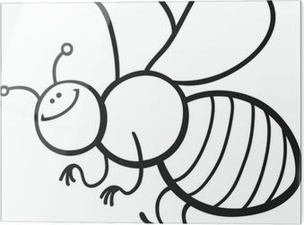 Karikatür Arı Boyama Duvar Resmi Pixers Haydi Dünyanızı