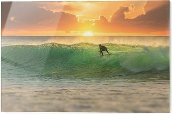 Cama baskı Sunrise Surfer Sörf