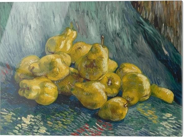 Cama baskı Vincent van Gogh - Ayvanın ile Natürmort - Reproductions