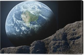 Canvas Aarde gezien vanuit de maan