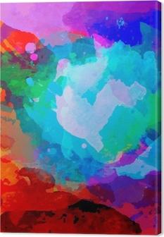Canvas Abstract aquarel palet van mix kleuren