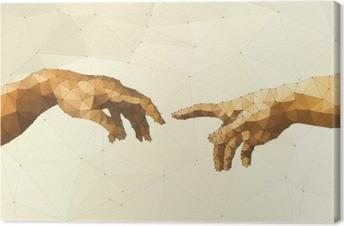 Canvas Abstract Gods hand vector illustratie