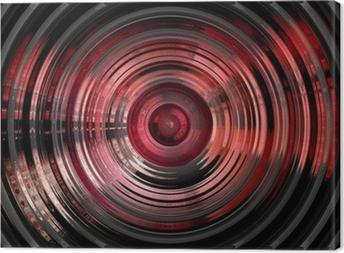 Canvas Abstract hypnotische 3D achtergrond