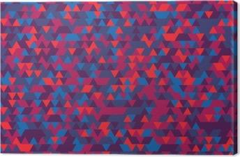 Canvas Abstracte achtergrond van de driehoeken. De gradatie van Violet. Paarse tinten.