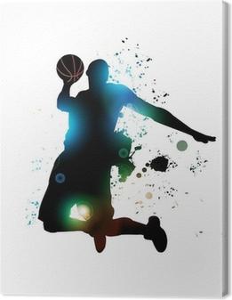 Canvas Abstracte basketbalspeler