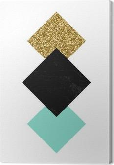 Canvas Abstracte Geometrische compositie.