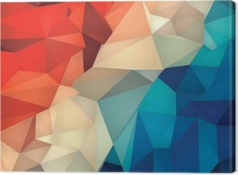 Canvas Abstracte geometrische laag poly achtergrond.