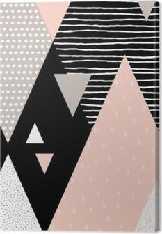 Canvas Abstracte Geometrische Landschap