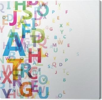 Canvas Abstracte Kleur alfabet op een witte achtergrond # Vector