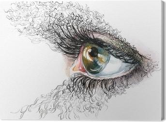 Canvas Abstracte menselijke ogen