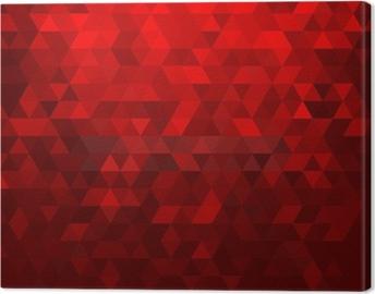 Canvas Abstracte rode mozaïekachtergrond