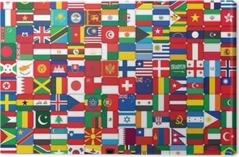 Canvas Achtergrond die van vlaggen pictogrammen
