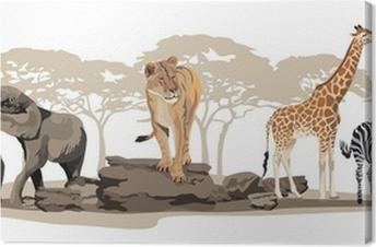 Canvas Afrikaanse dieren