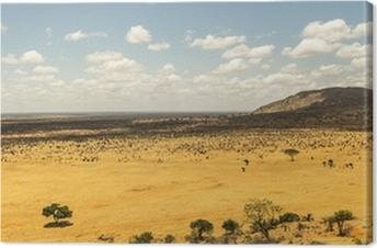Canvas Afrikaanse savanne