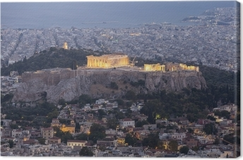 Canvas Akropolis en het Parthenon, Athene, Griekenland