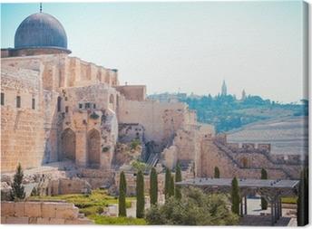 Canvas Al-Aqsa moskee van Omar