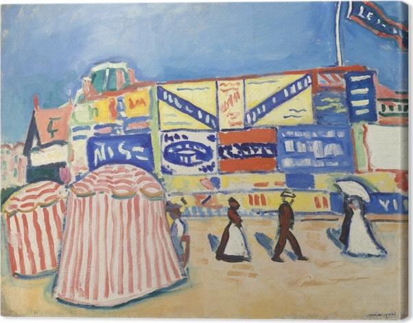 Canvas Albert Marquet - Plakáty v Trouville - Reproductions