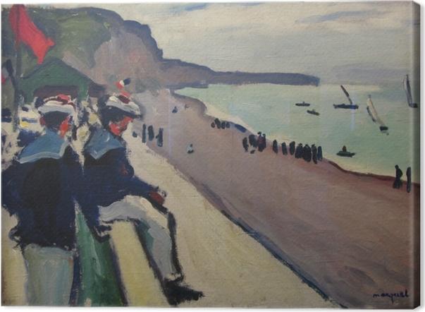 Canvas Albert Marquet - Pláž ve Fécamp - Reproductions