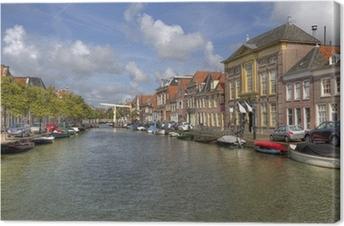 Canvas Alkmaar Canal, Holland