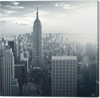 Canvas Amazing view to New York Manhattan at sunset