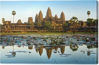 Canvas Angkor Wat, Siem Reap, Cambodja.