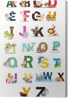 Canvas Animal Letter Vector Set