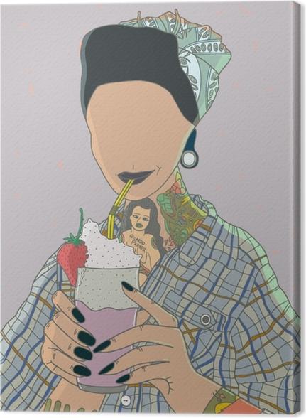 Canvas Anonieme vrouw - Ricardo X Parker - Hedendaagse kunstenaars