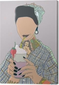 Canvas Anonieme vrouw - Ricardo X Parker