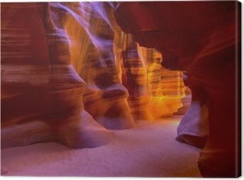 Canvas Antelope Canyon Arizona op Navajo land buurt pagina