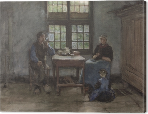 Canvas Anton Mauve - Interiér domu v Laren - Reproductions