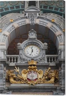 Canvas Antwerpen-Centraal klok
