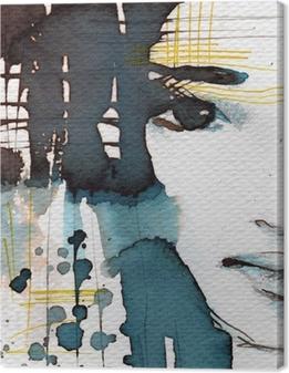 Canvas Aquarel illustratie