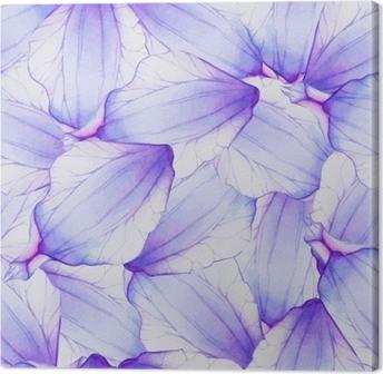 Canvas Aquarel naadloze patroon met paarse bloemblad