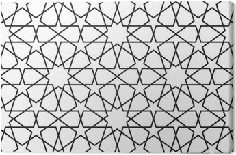 Canvas Arabisch naadloos patroon. Vector ornament