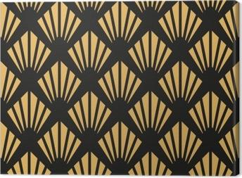 Canvas Art deco naadloze vintage behang patroon