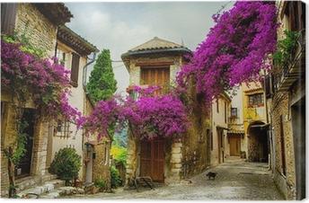 Canvas Art prachtige oude centrum van de Provence