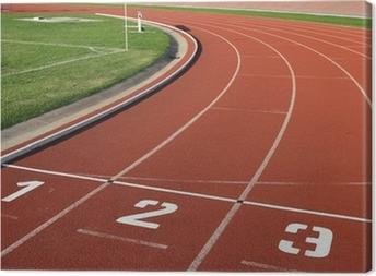 Canvas Athlectics Track Lane Aantallen