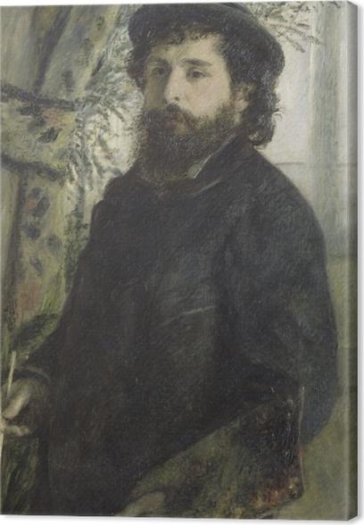 Canvas Auguste Renoir - Portret van Claude Monet - Reproductions