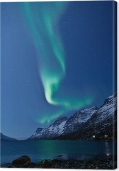 Canvas Aurora Borealis in Noorwegen, tot uiting