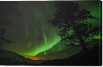 Canvas Aurora Borealis (Noorderlicht) in Zweden