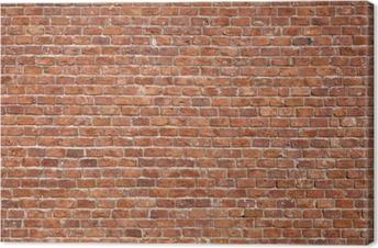 Canvas Bakstenen muur, achtergrond