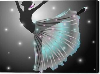 Canvas Ballerina Ballet-Dance Classic Star Dancer-Vector