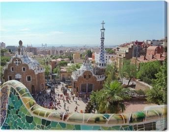Canvas BARCELONA, Spanje: Het beroemde Park Guell