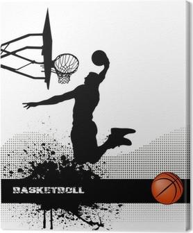 Canvas Basketbal wedstrijd op grunge achtergrond
