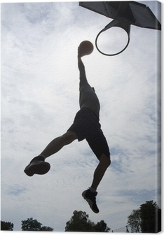 Canvas Basketballer Slam Dunk Silhouette
