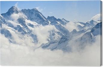 Canvas Berglandschap in de Alpen