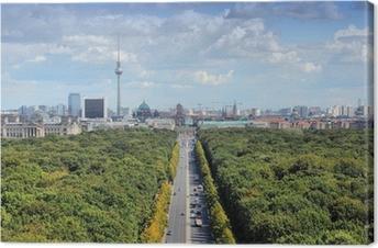 Canvas Berlijn skyline met Tiergarten Park