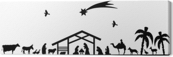 Canvas Bethlehem silhouette