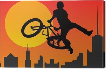 Canvas Bicyclist